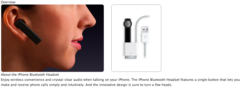 Apple Bluetooth Headset Screenshot